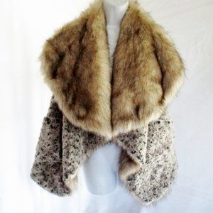 Jackets & Blazers - REVERSIBLE Faux COYOTE FUR Vest Jacket Coat